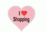 I Love Shopping - Enamel Charm